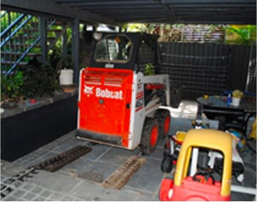 BOBCAT OPERATING IN LIMITED ACCESS AREA